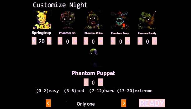 Five Nights at Freddy's 3: Custom Night